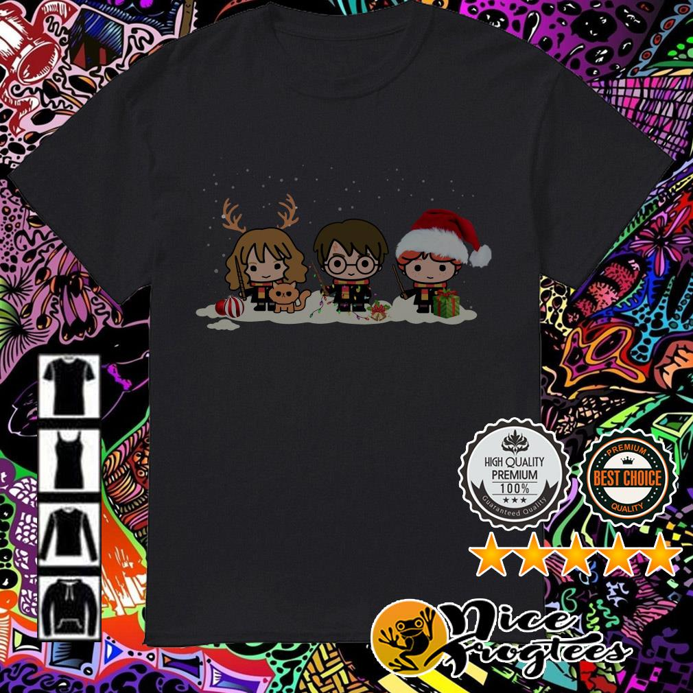 Harry Potter Hermione Ron Chibi Christmas shirt