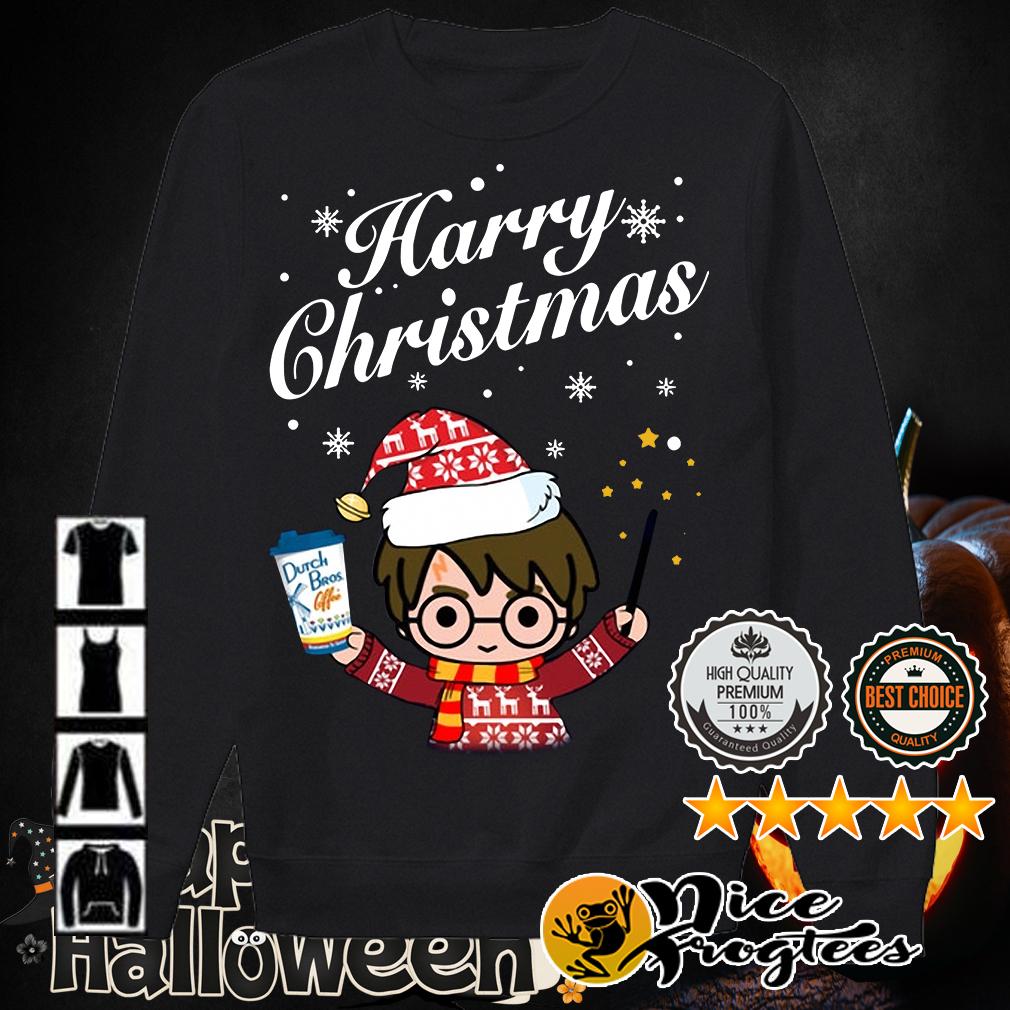 Harry Potter holding Dutch Bros Coffee Harry Christmas shirt