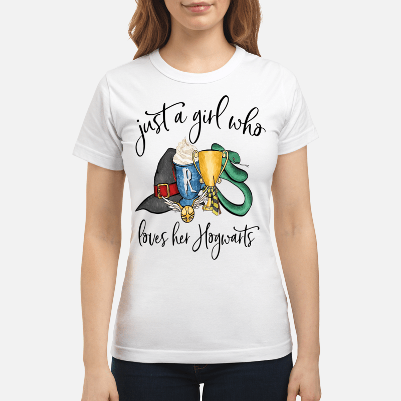 Harry Potter just a girl who loves her Hogwarts Ladies tee