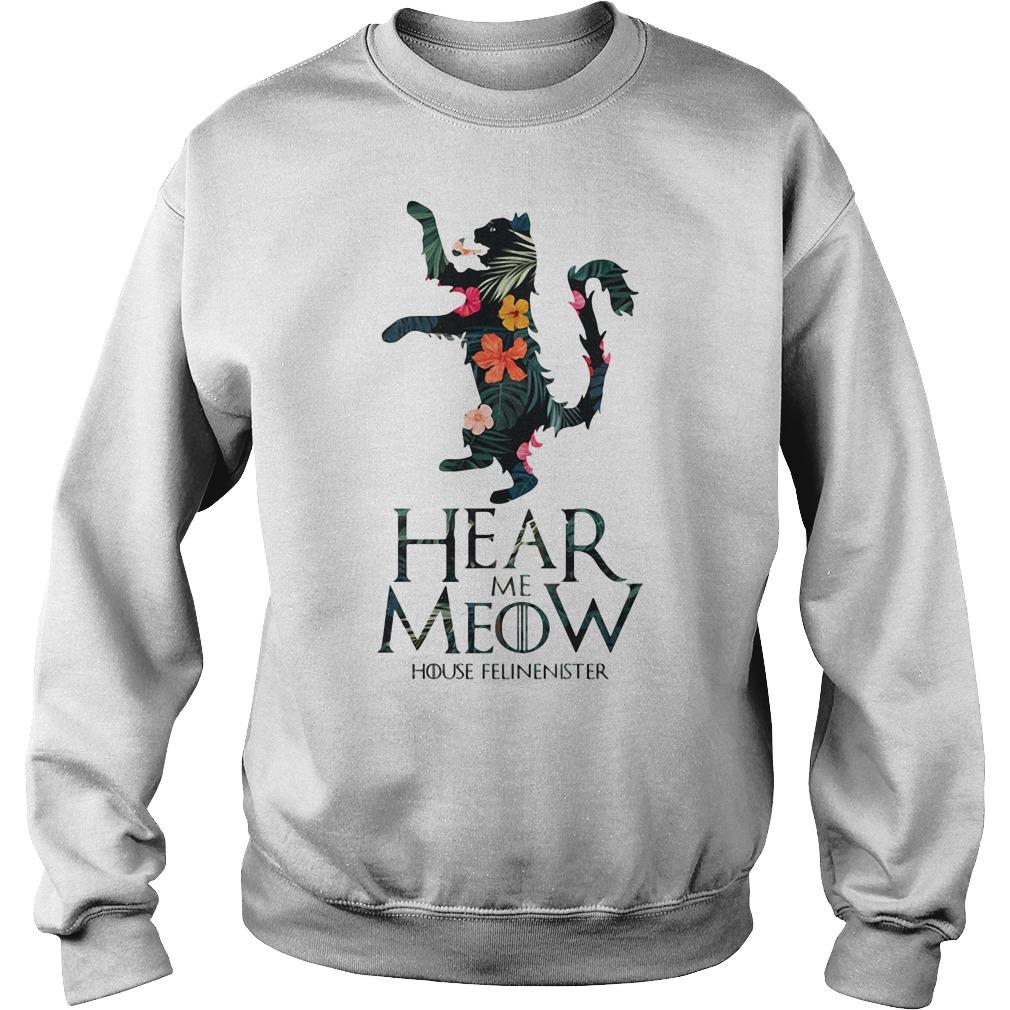 Hear me Meow House Felineister Game of Thrones Sweater