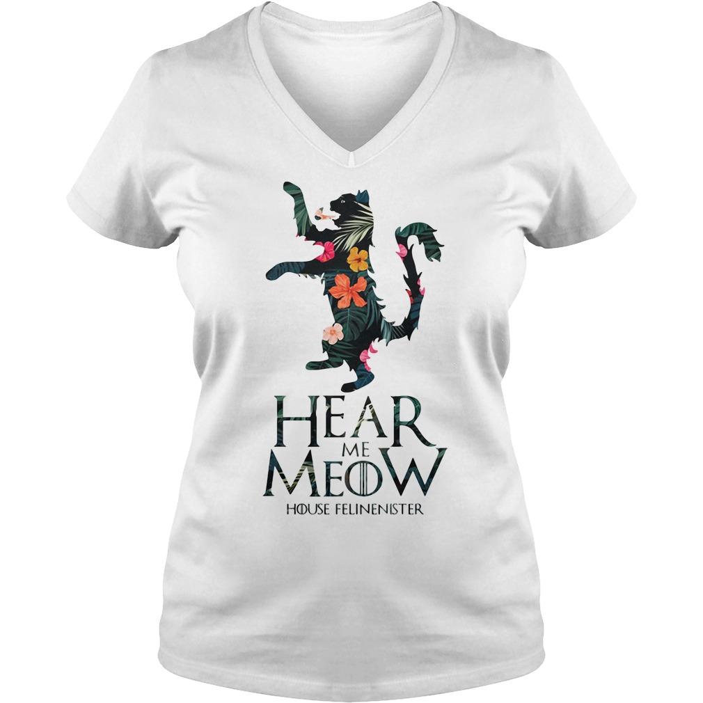 Hear me Meow House Felineister Game of Thrones V-neck t-shirt