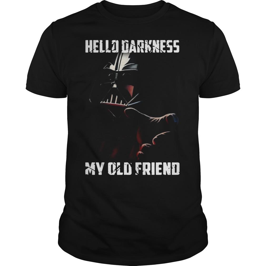 Hello darkness Darth Vader Star Wars my old friend shirt