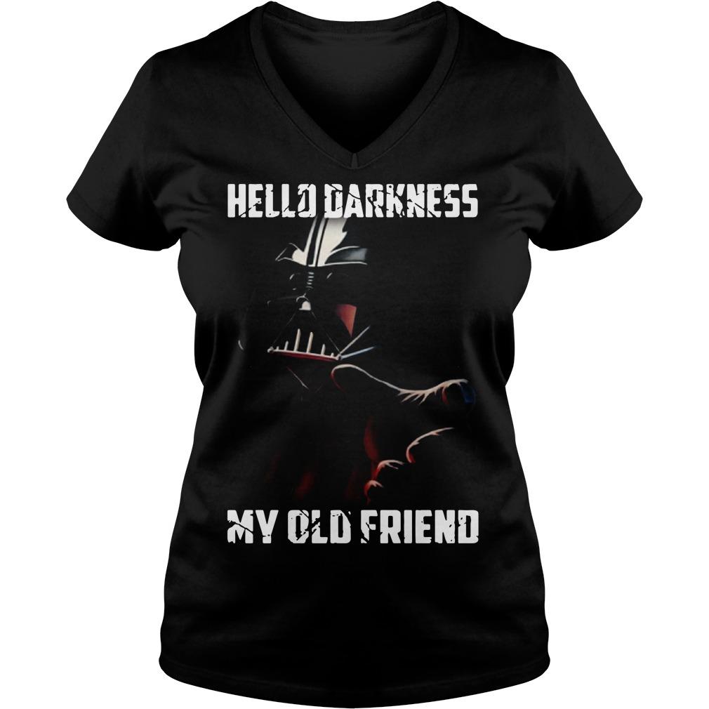 Hello darkness Darth Vader Star Wars my old friend V-neck T-shirt