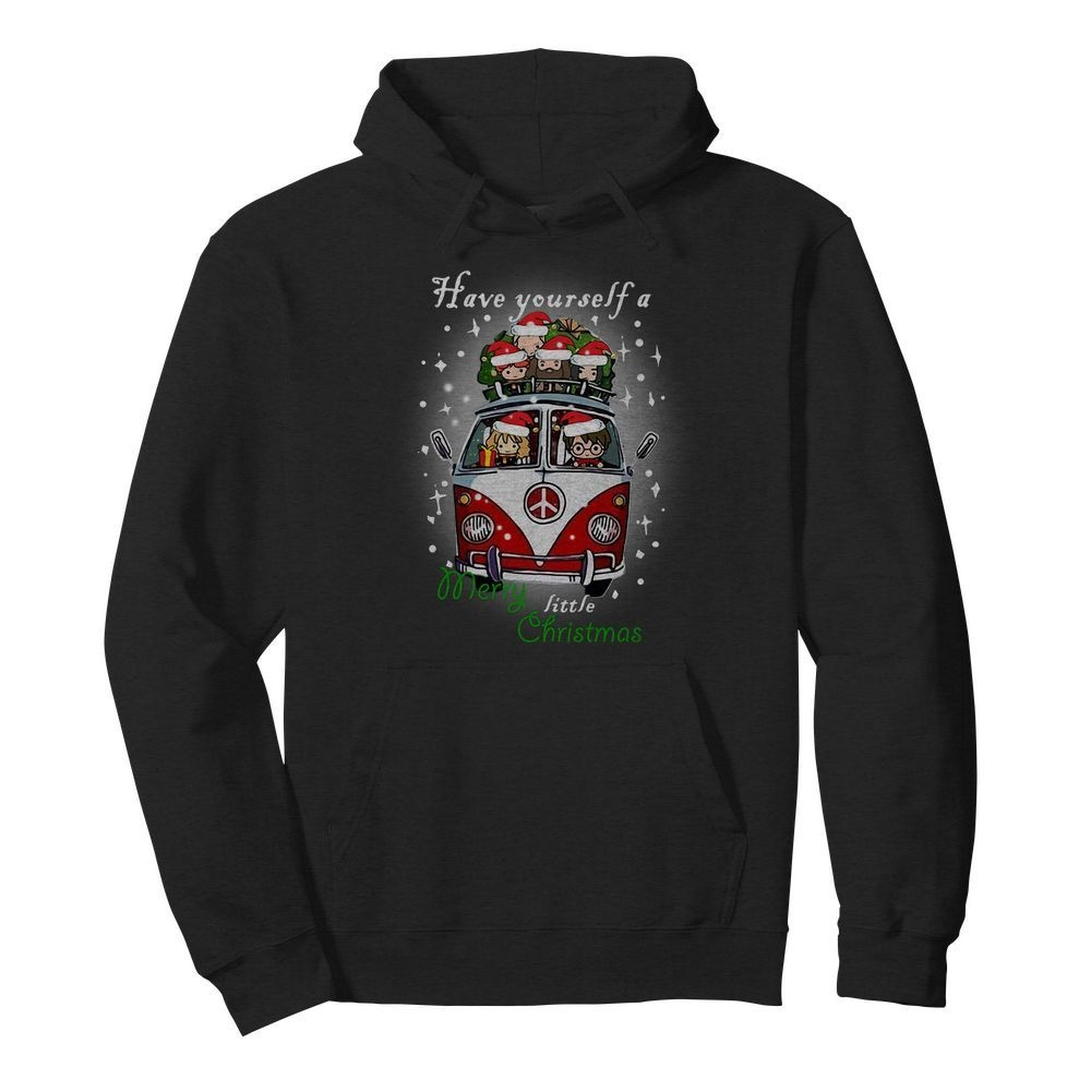 Hippie car Harry Potter have yourself a Merry little Christmas Hoodie