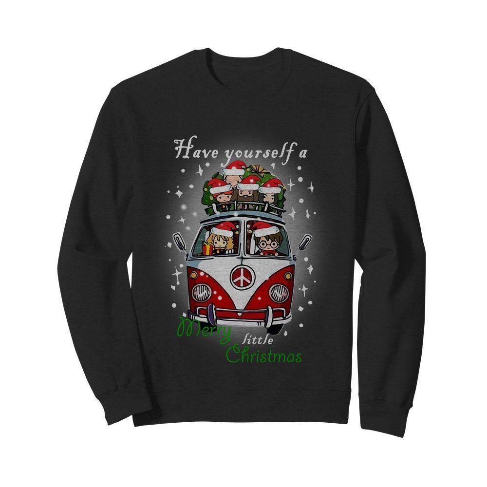 Hippie car Harry Potter have yourself a Merry little Christmas Sweater