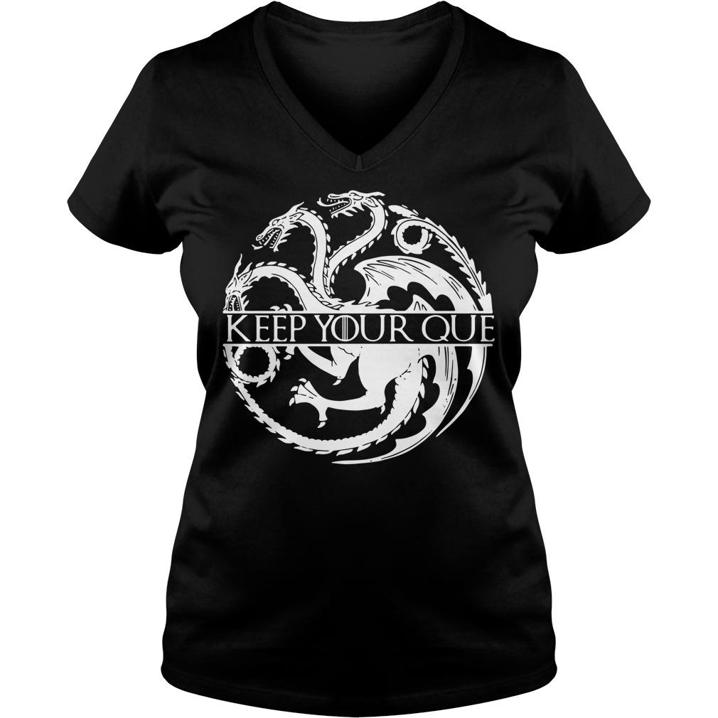 House Targaryen keep your Queen warm Game of Thrones V-neck t-shirt