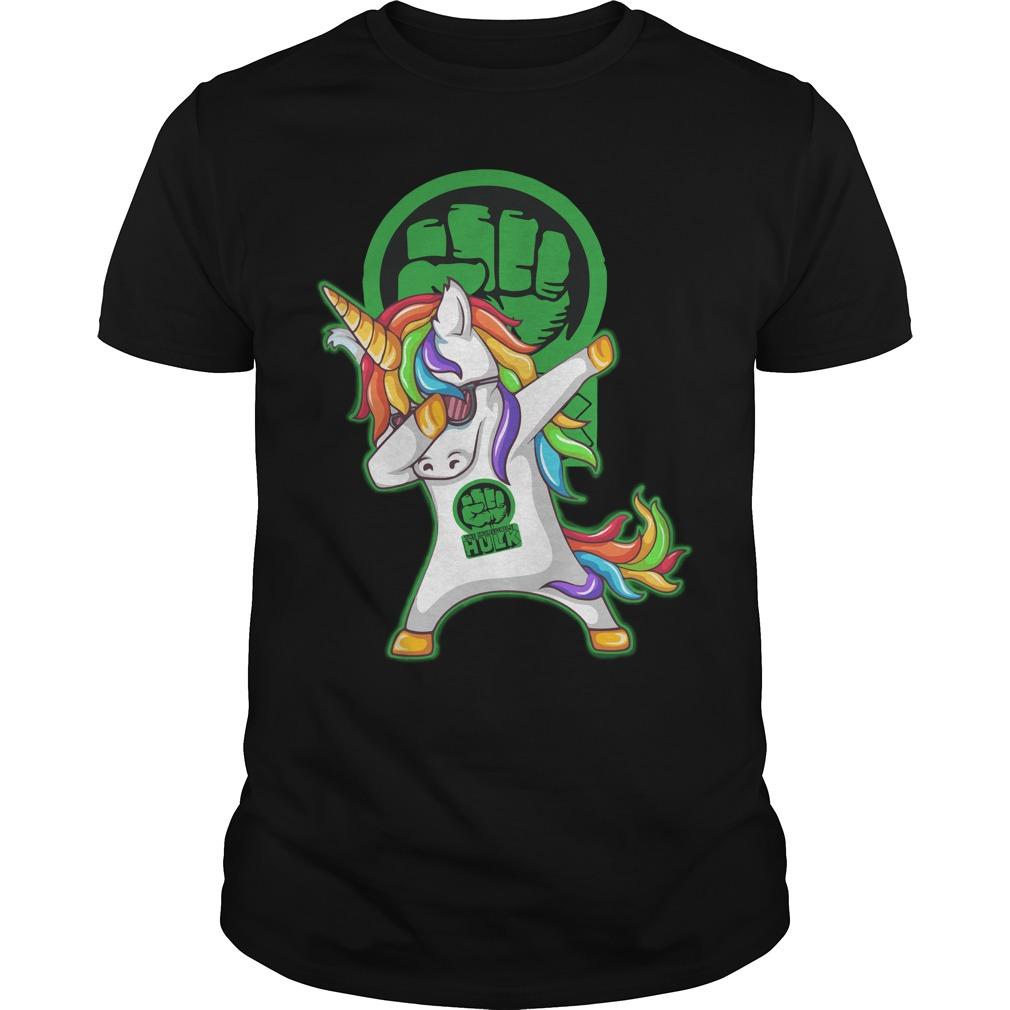 Hulk Unicorn Dabbing shirt