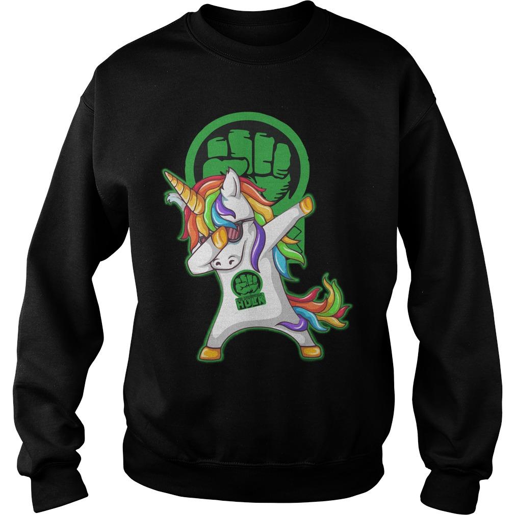 Hulk Unicorn Dabbing Sweater