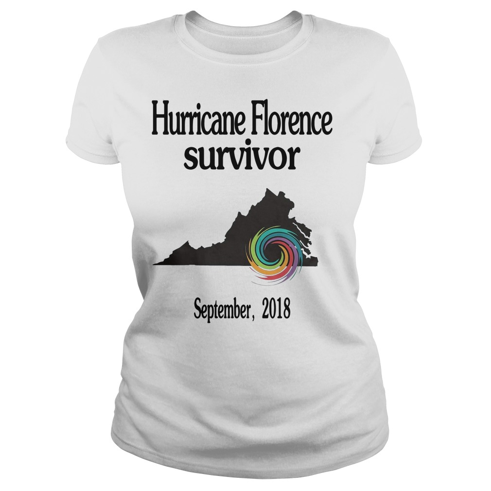 Hurricane Florence Survivor September 2018 Ladies Tee