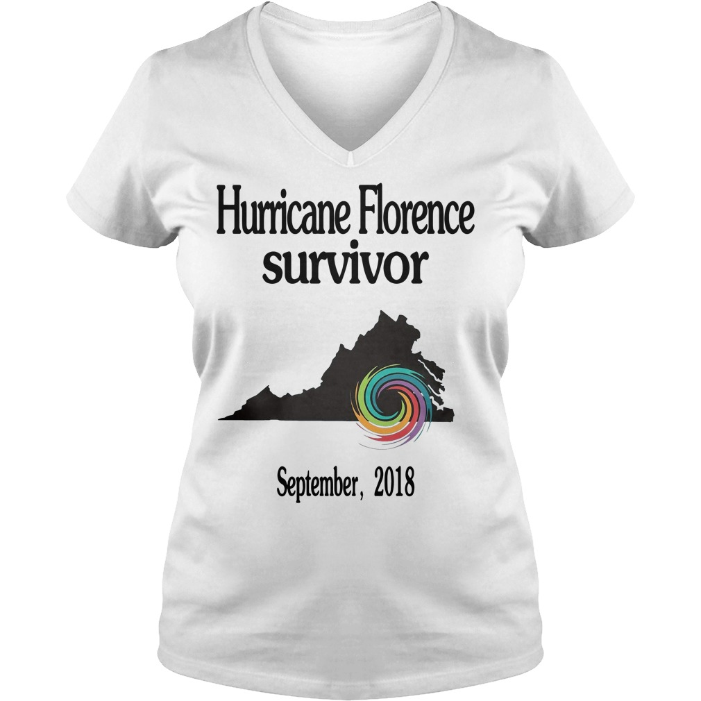Hurricane Florence Survivor September 2018 V-neck T-shirt