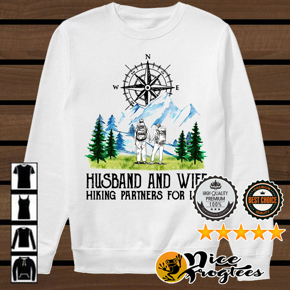 Husband and wife hiking partners for life shirt