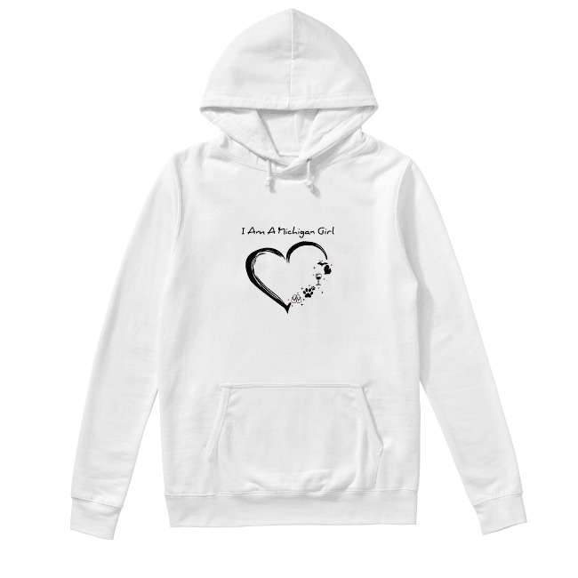 I am a Michigan girl I love Scuba diving wine paw dog and flip flop Hoodie