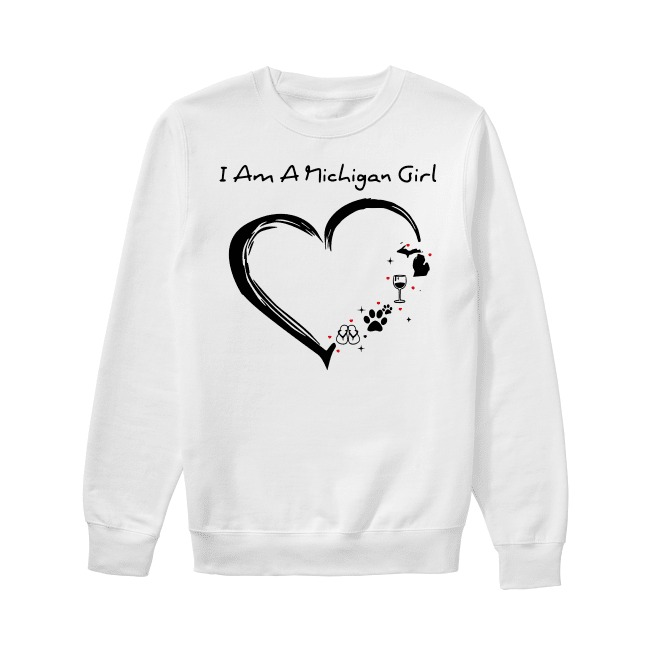 I am a Michigan girl I love Scuba diving wine paw dog and flip flop Sweater