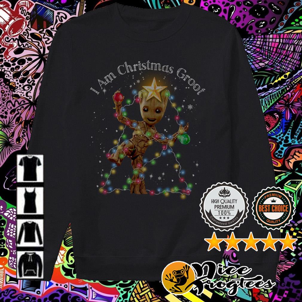 I am Groot Christmas Light Sweater
