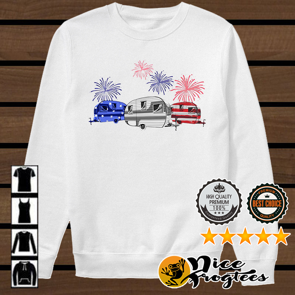 Independence day 4th of July camping beauty America flag shirt