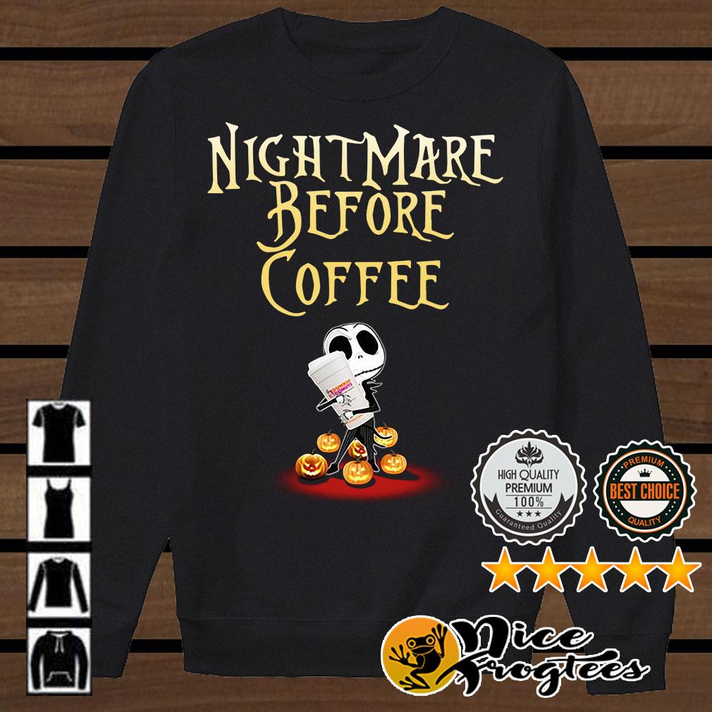 Jack Skellington nightmare before coffee Halloween shirt