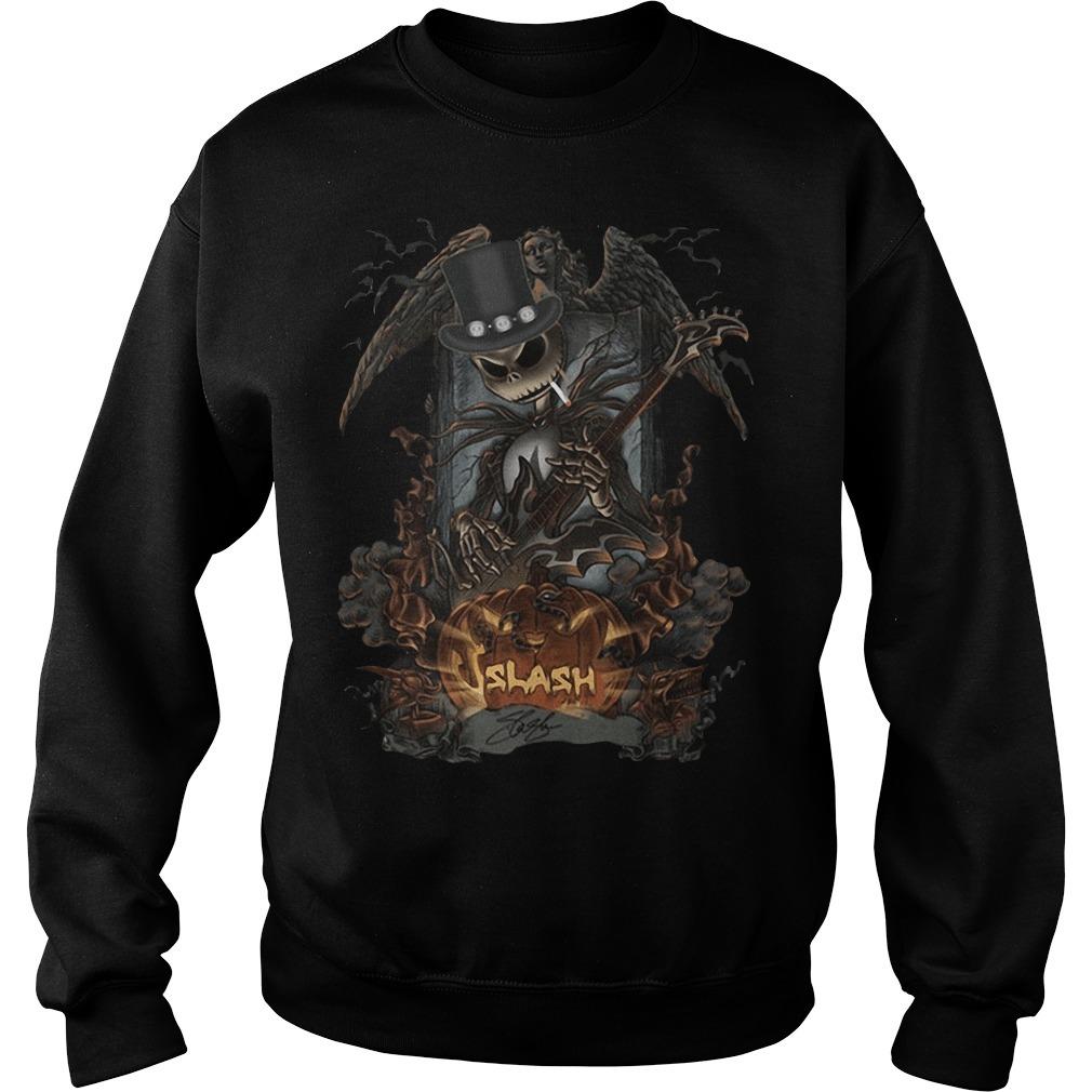 Jack Skellington Smoking Slash Pumpkin Signature Halloween Sweater