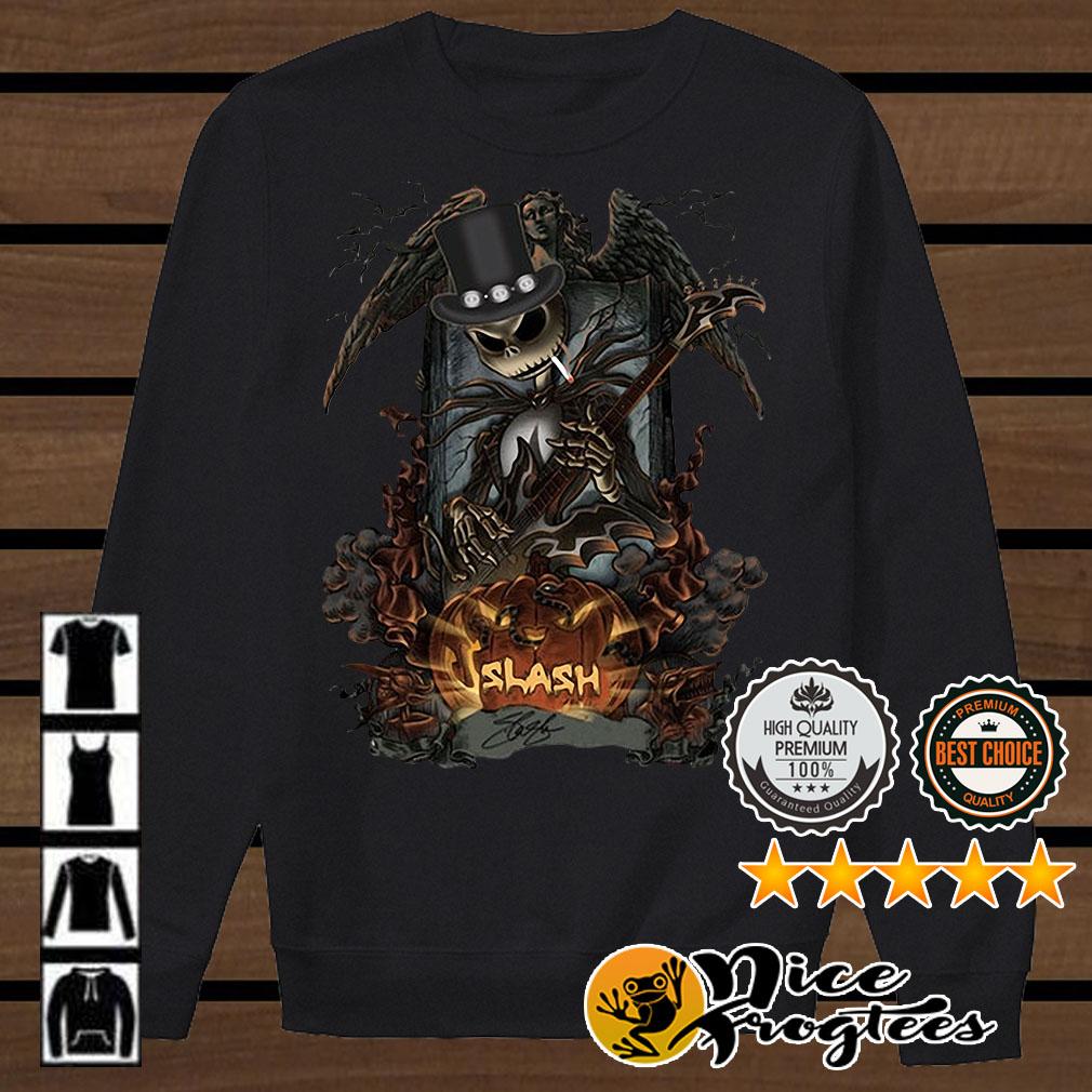 Jack Skellington Smoking Slash Pumpkin Signature Halloween shirt