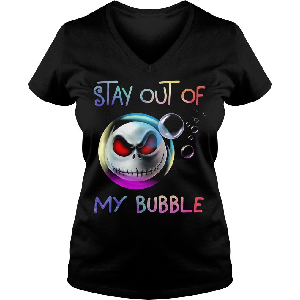 Jack skellington stay out of my bubble V-neck T-shirt