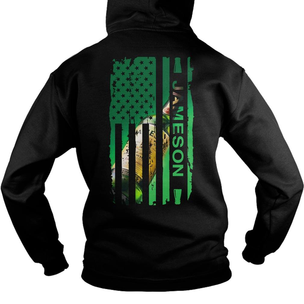 Jameson Irish Whiskey inside American flag Hoodie