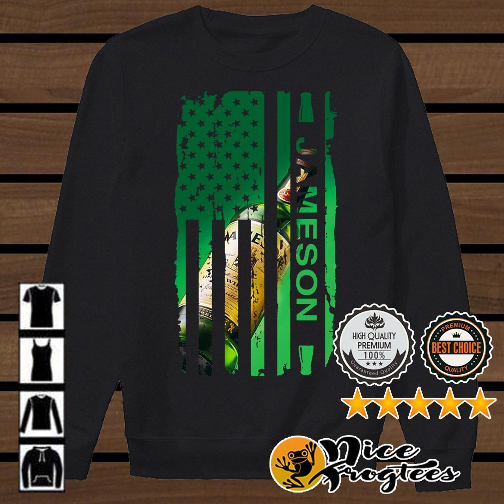 Jameson Irish Whiskey inside American flag shirt