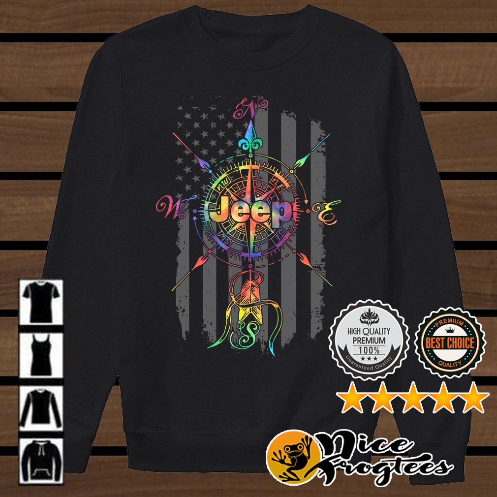 Jeep compass America flag shirt