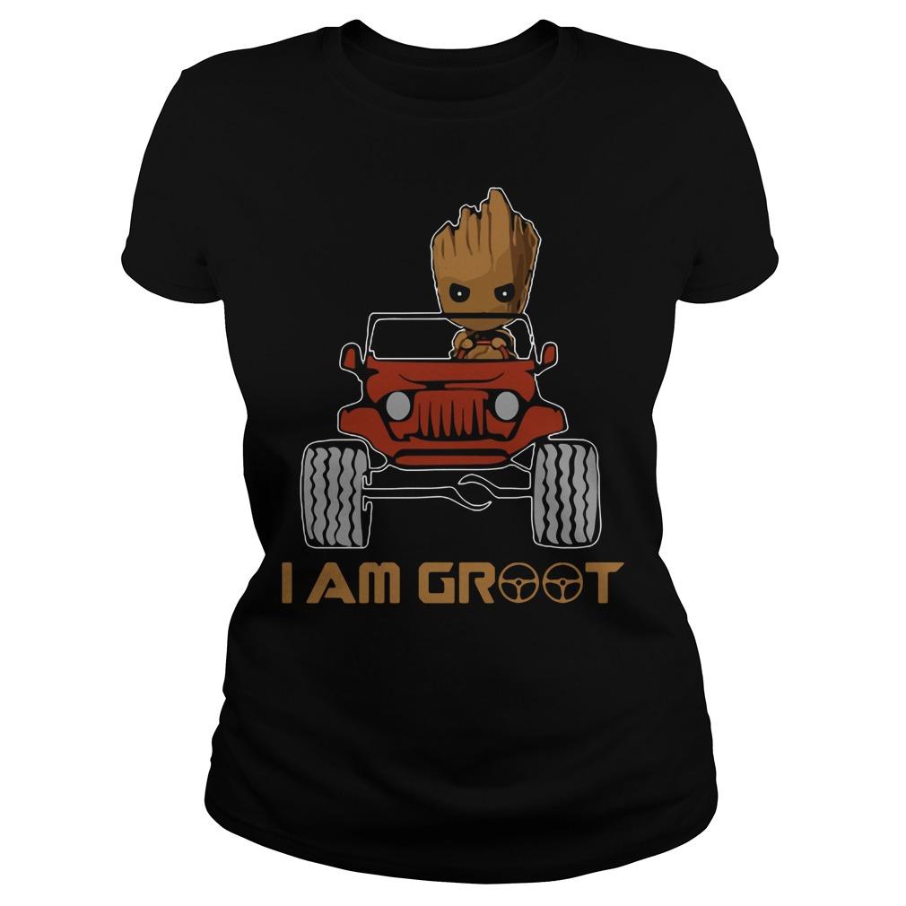 Jeep I am Groot Ladies tee