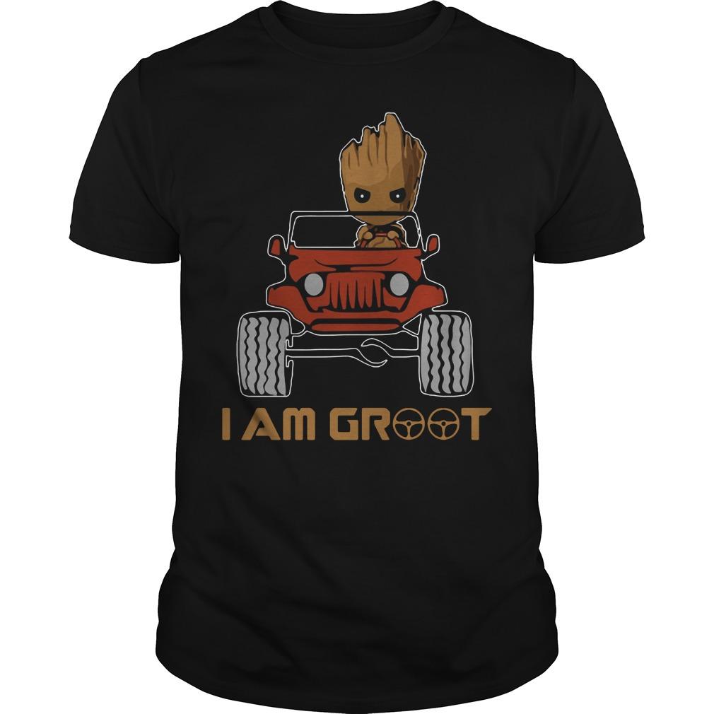 Jeep I am Groot shirt