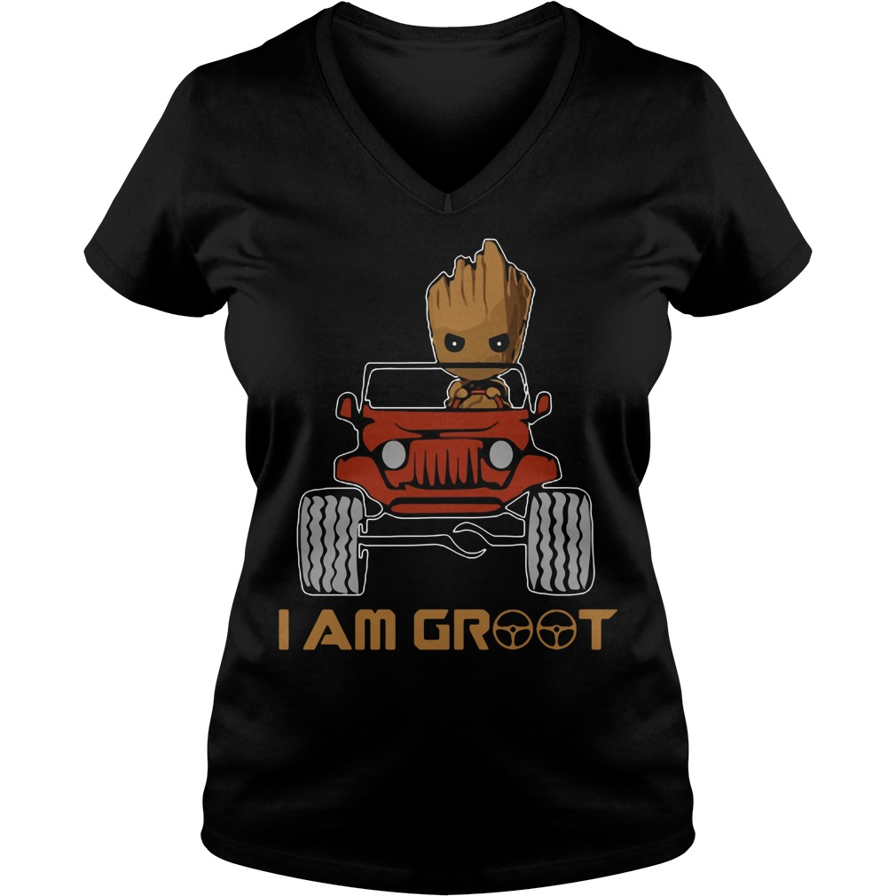 Jeep I am Groot V-neck t-shirt