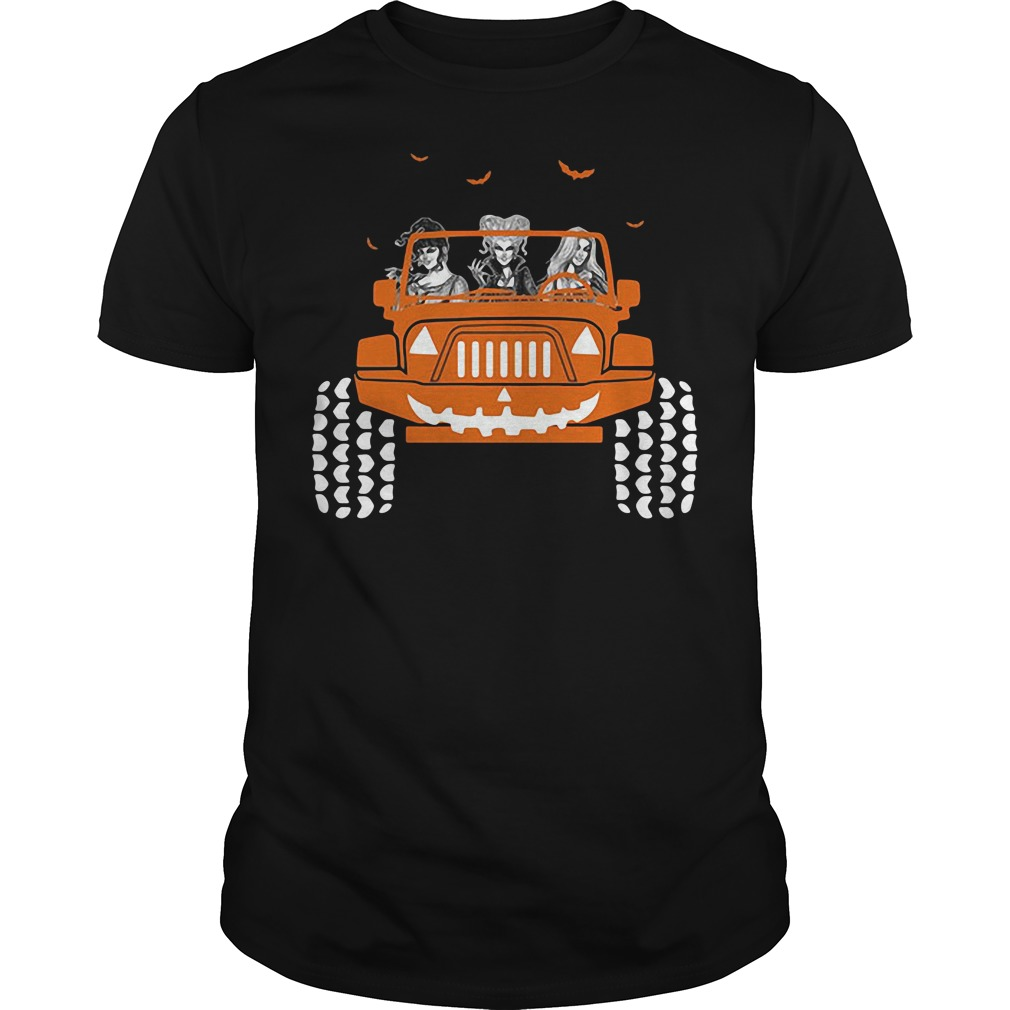 Jeep Halloween Hocus Pocus Sanderson Sisters shirt