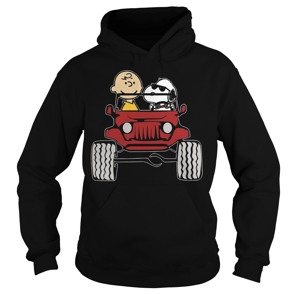 Jeep They are Snoopy and Charlie Brown Hoodie