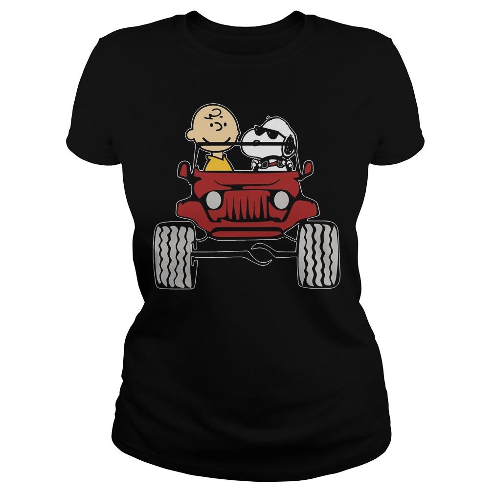 Jeep They are Snoopy and Charlie Brown Ladies tee