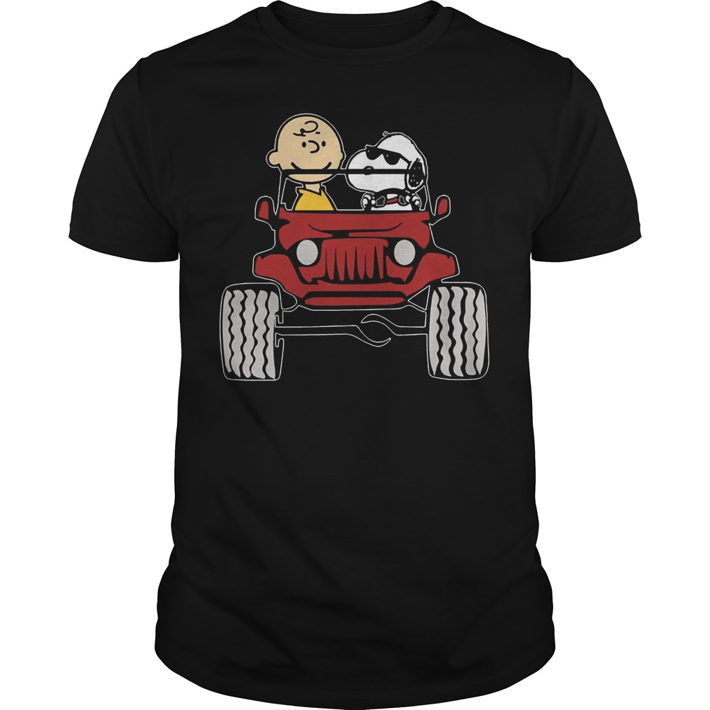 Jeep They are Snoopy and Charlie Brown shirt