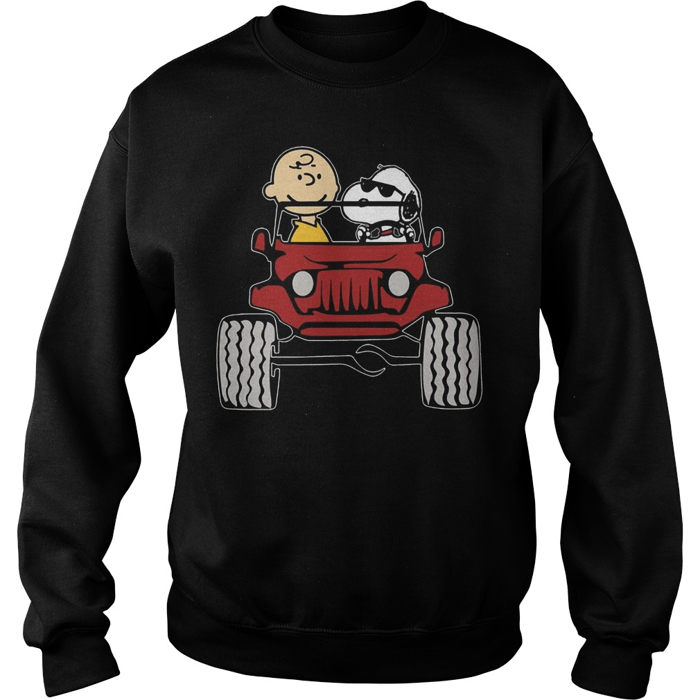 Jeep They are Snoopy and Charlie Brown Sweater