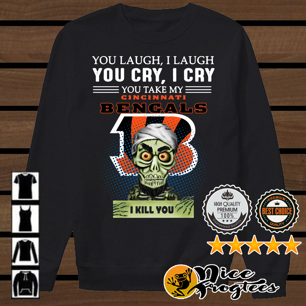 Jeff Dunham Achmed the Dead Terrorist laugh cry Cincinnati Bengals I kill you shirt