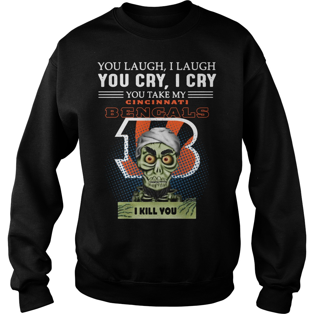 Jeff Dunham Achmed the Dead Terrorist laugh cry Cincinnati Bengals I kill you Sweater