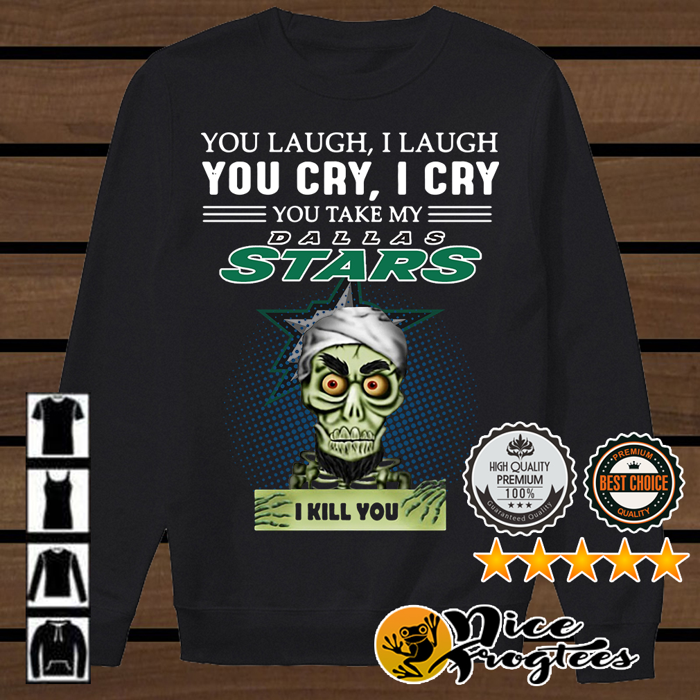 Jeff Dunham Achmed the Dead Terrorist laugh cry Dallas Stars I kill you shirt