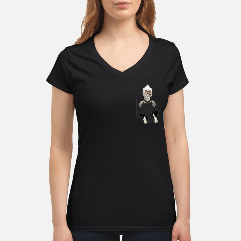 Jeff Dunham Achmed the Dead Terrorist in the pocket V-neck t-shirt
