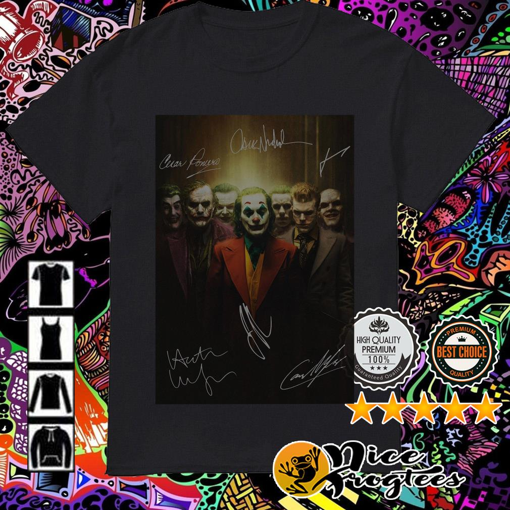 Joaquin Phoenix Joker all characters signatures shirt