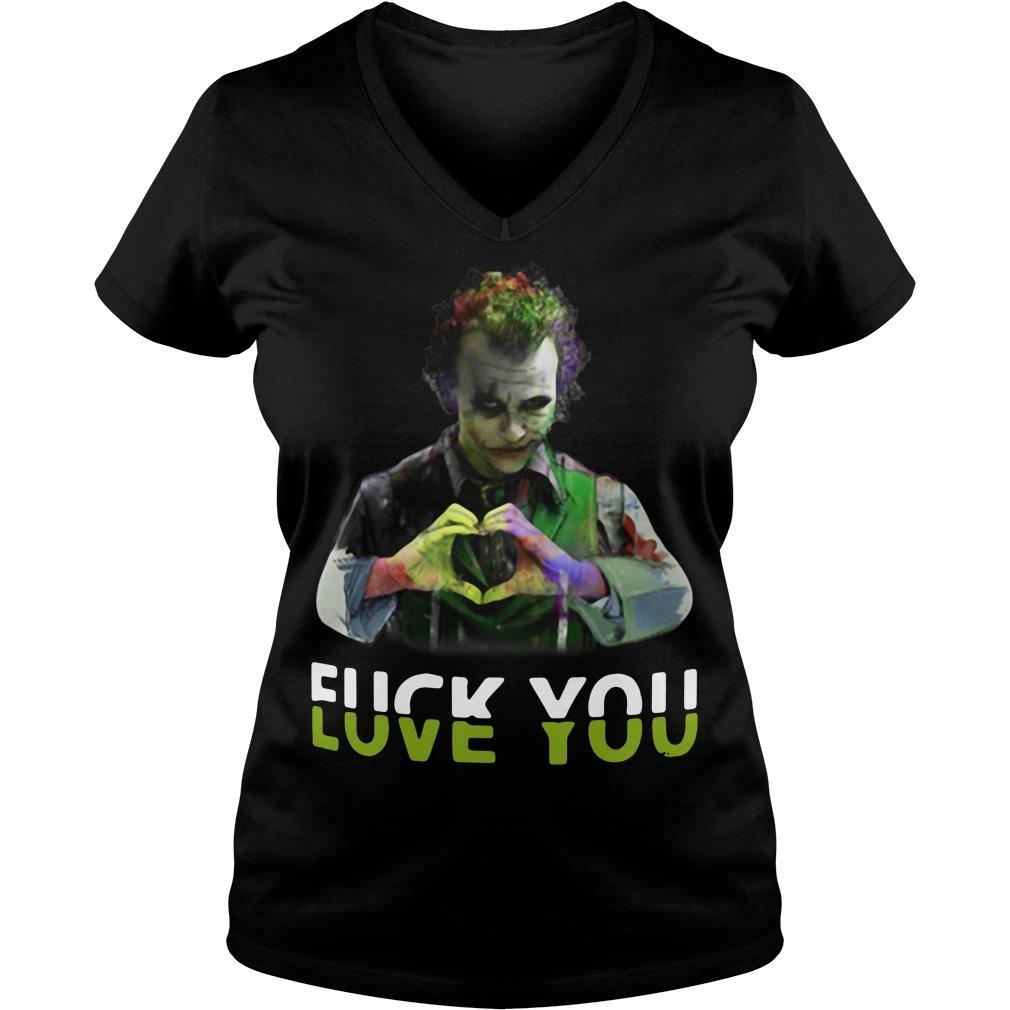 Joker fuck you love you V-neck t-shirt