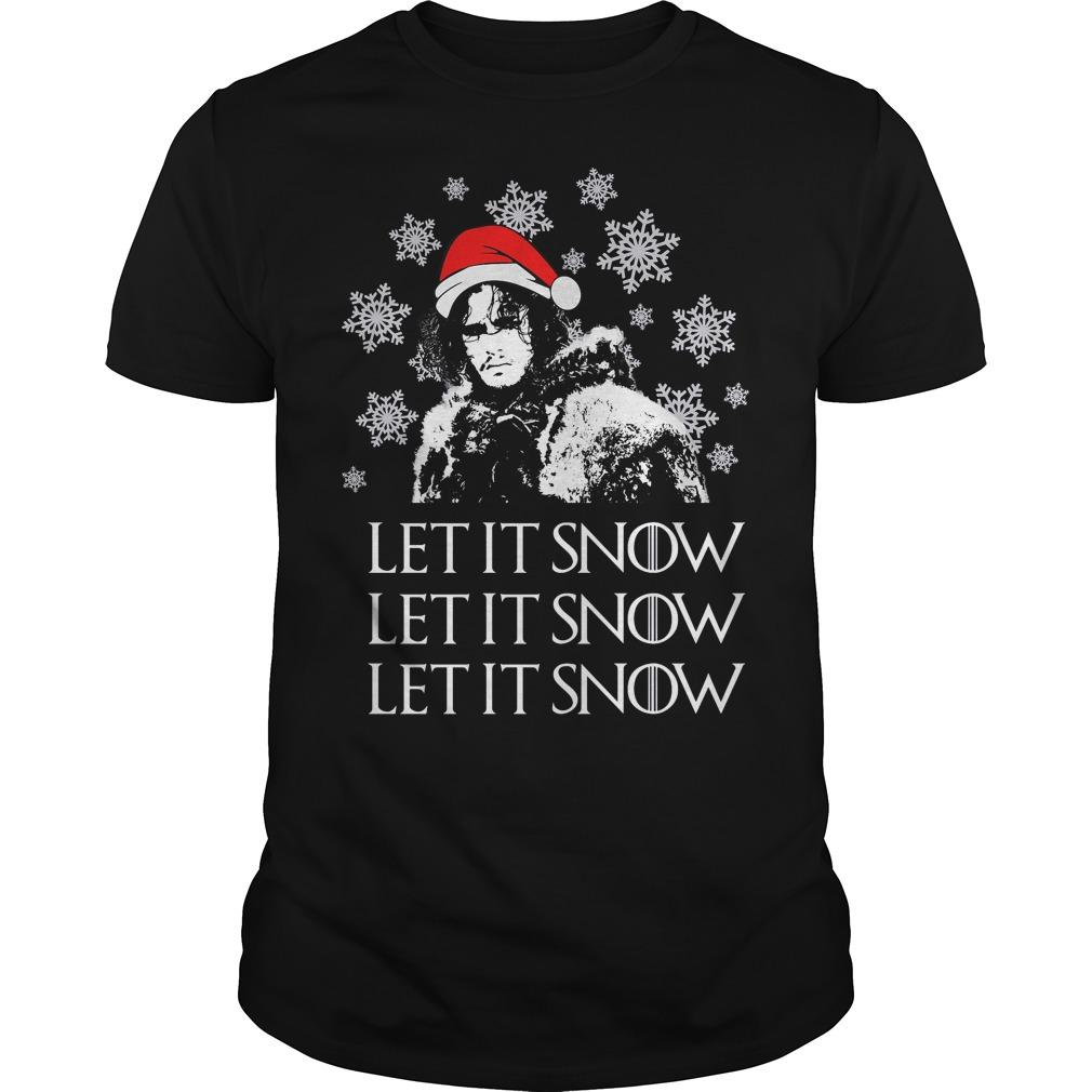 Jon Snow: let it Snow ugly Christmas Guys shirt