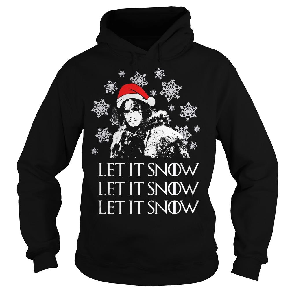 Jon Snow: let it Snow ugly Christmas Hoodie
