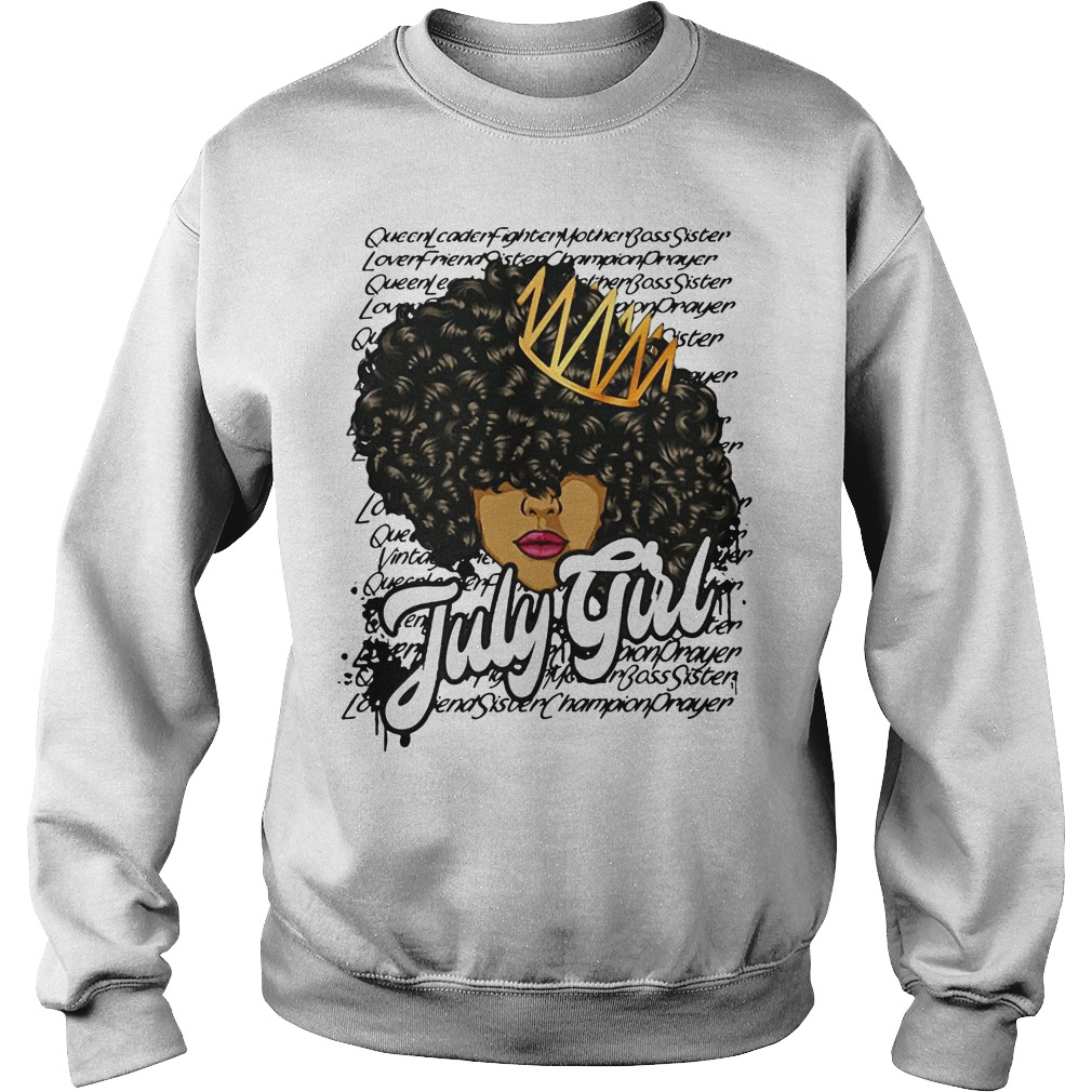 July girl queen leader fighter mother bass sister Sweater