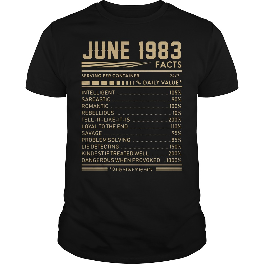 June 1983 facts shirt