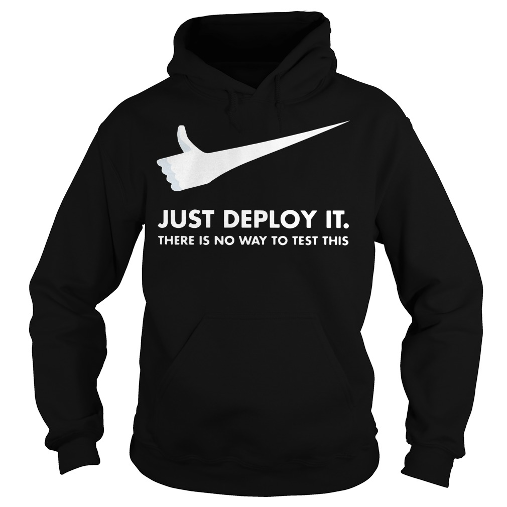 Just deploy it there is no way to test this Nike Hoodie