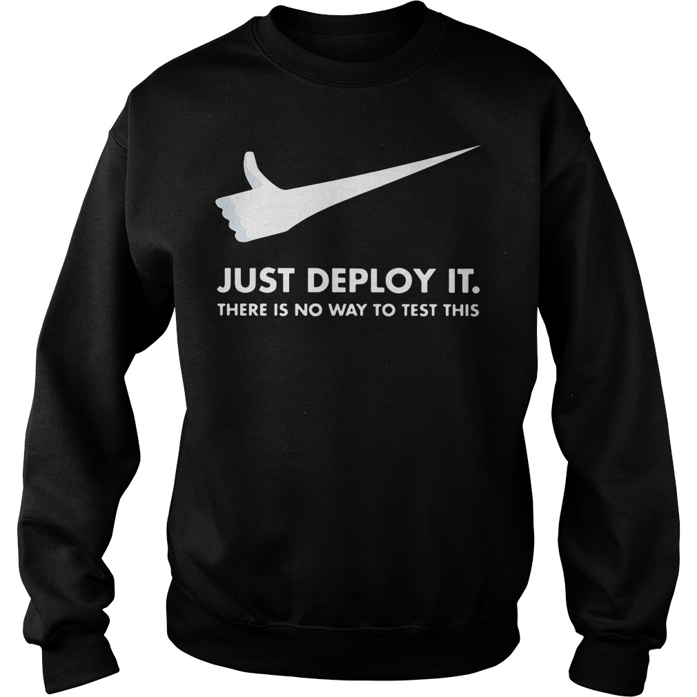 Just deploy it there is no way to test this Nike Sweater