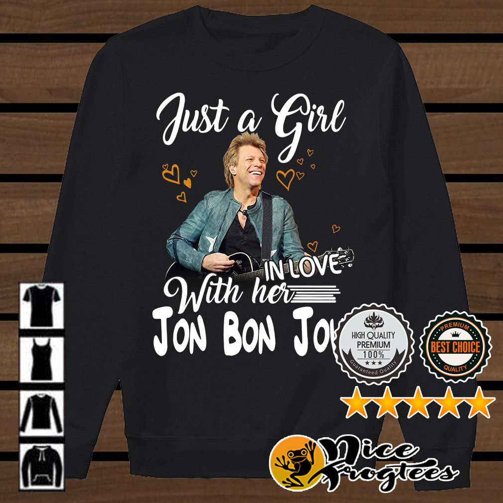 Just a girl in love with her Jon Bon Jovi shirt