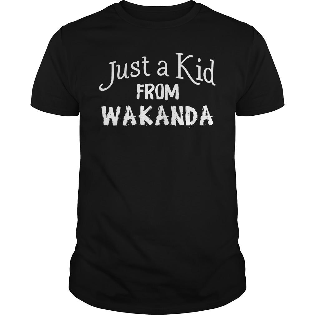 Just a Kid from Wakanda Black Panther shirt