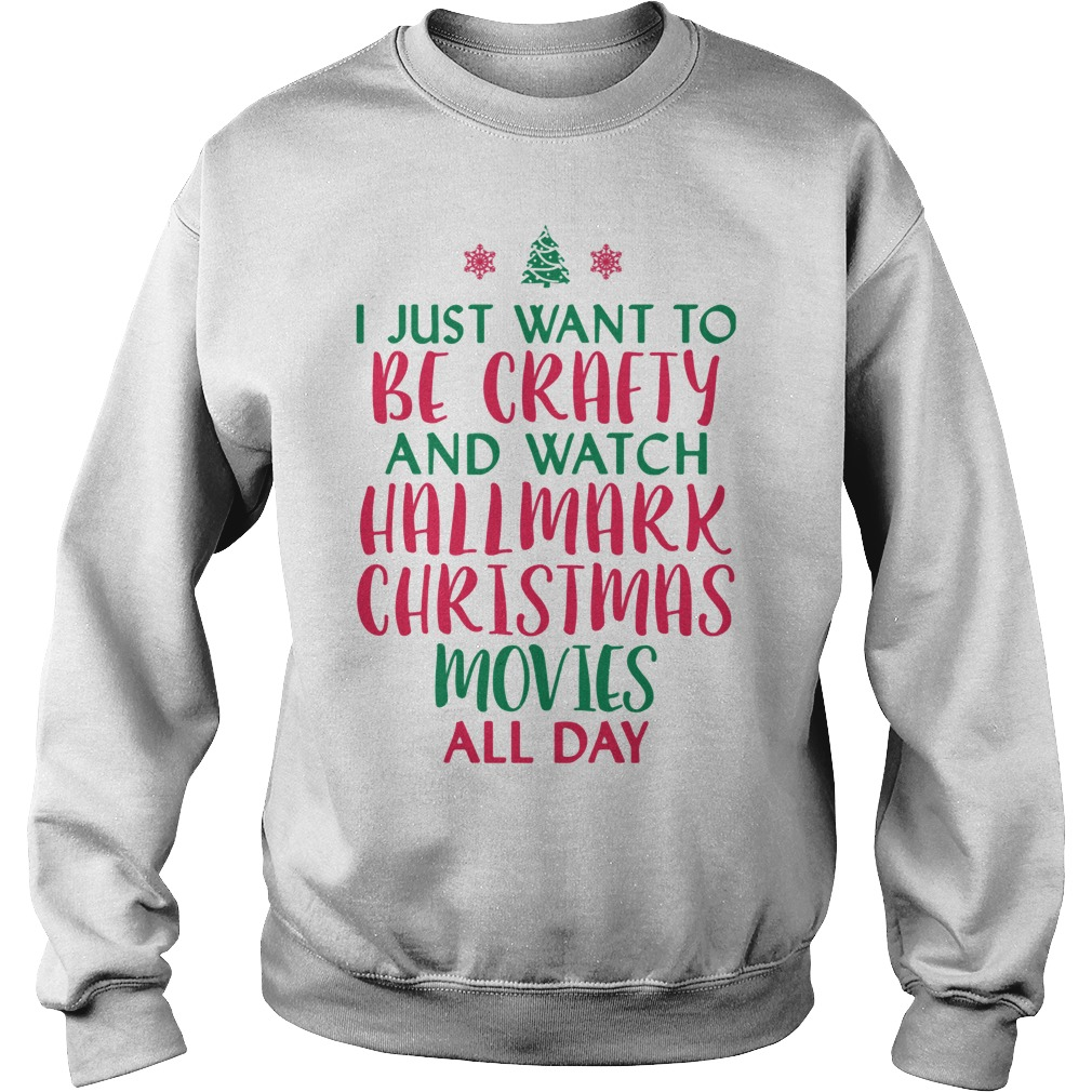 I just want to be crafty and watch Hallmark Christmas ugly sweater