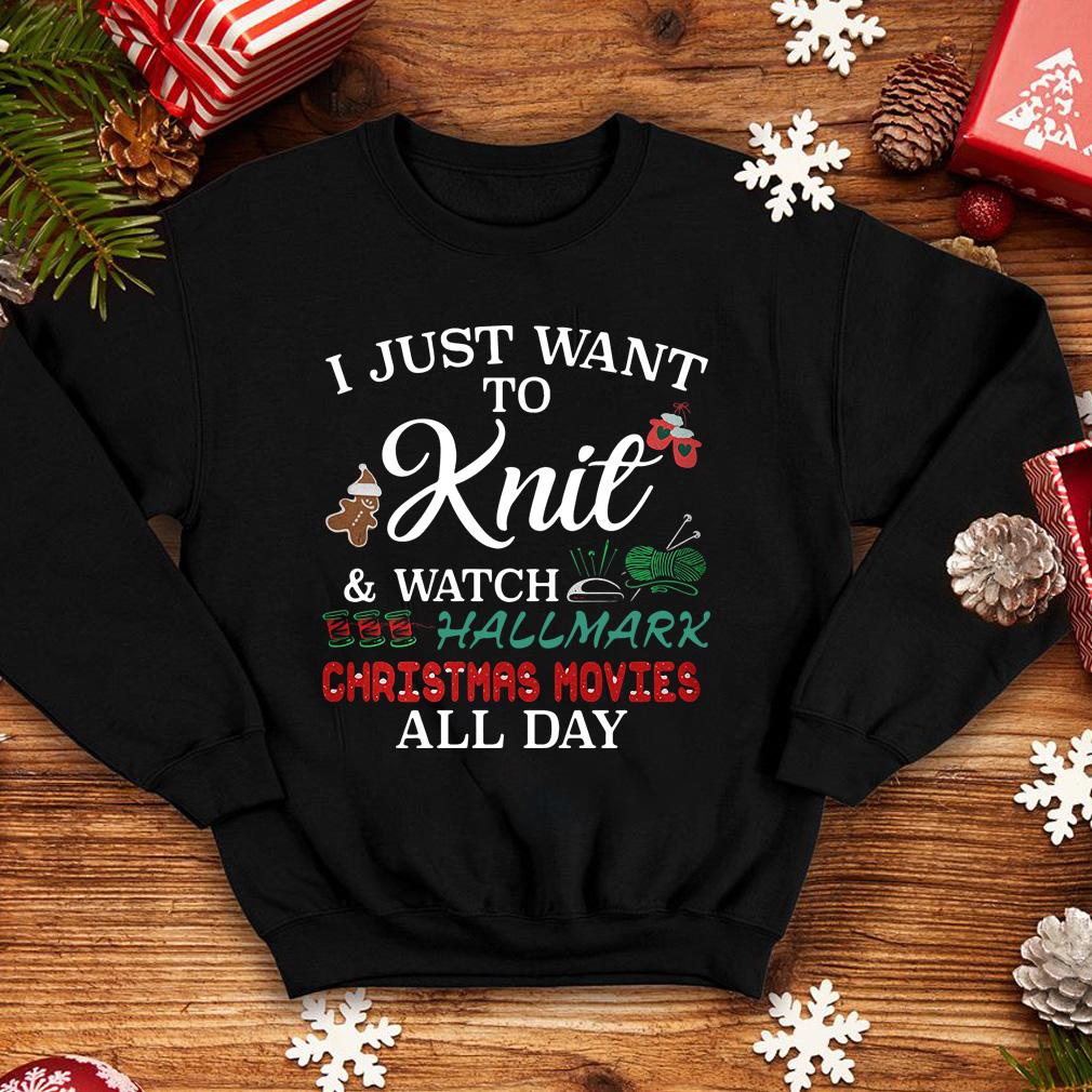 I just want to Knit and watch Hallmark Christmas movies all day sweater